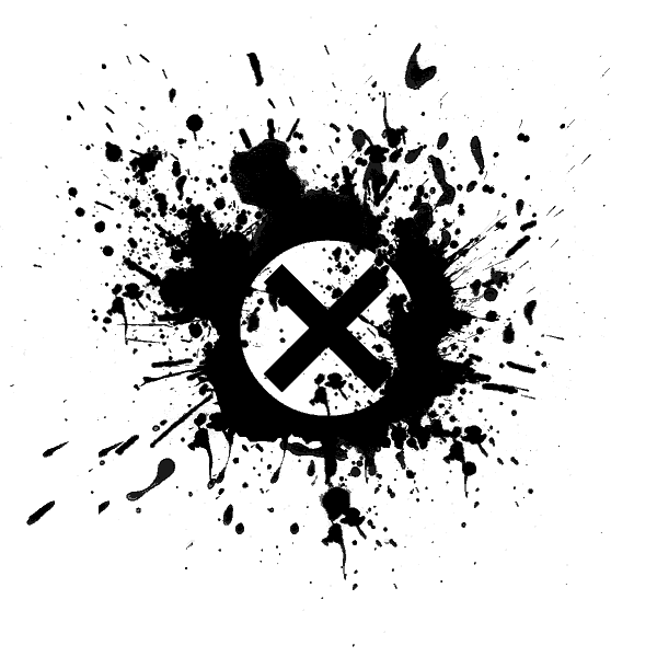 black paint splatter icon alphanumeric circled