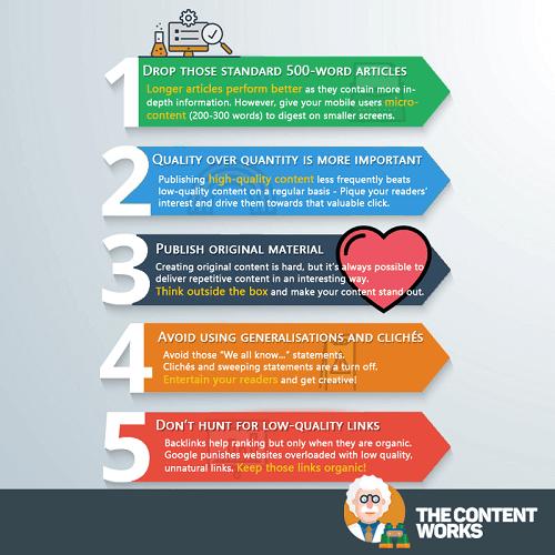 Qué hacer con el contenido de baja calidad en tu web #infografia