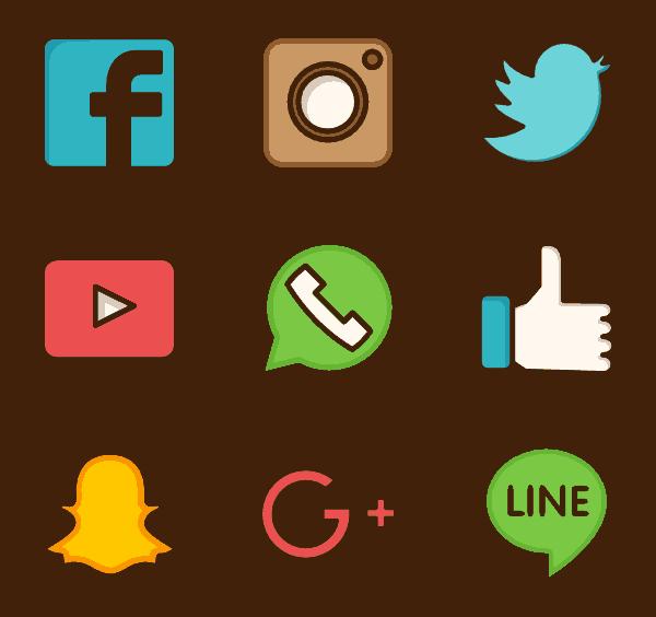 iconos perfiles redes sociales