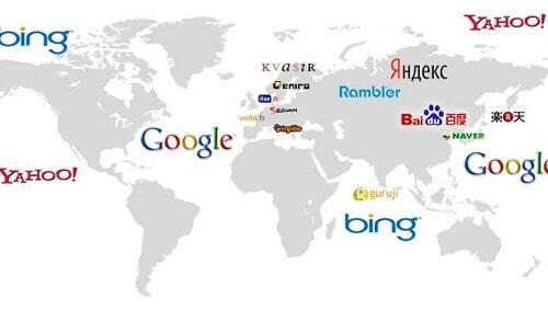 motores de búsqueda en el mundo