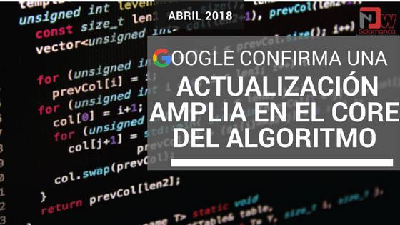 google actualizacion amplia core algoritmo