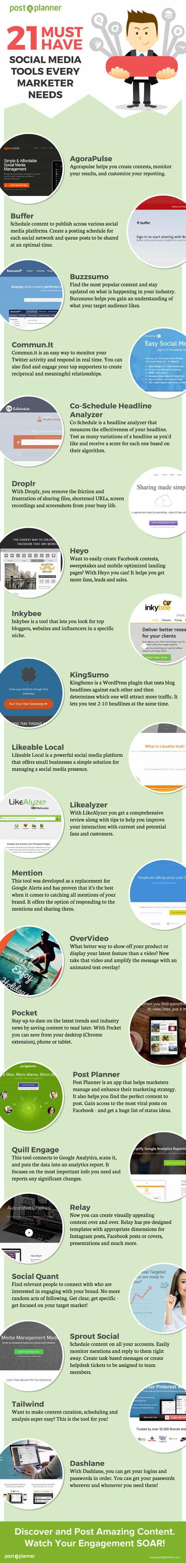 herramientas programacion redes sociales infografia