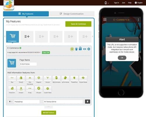 Crear app con Appypie paso 2