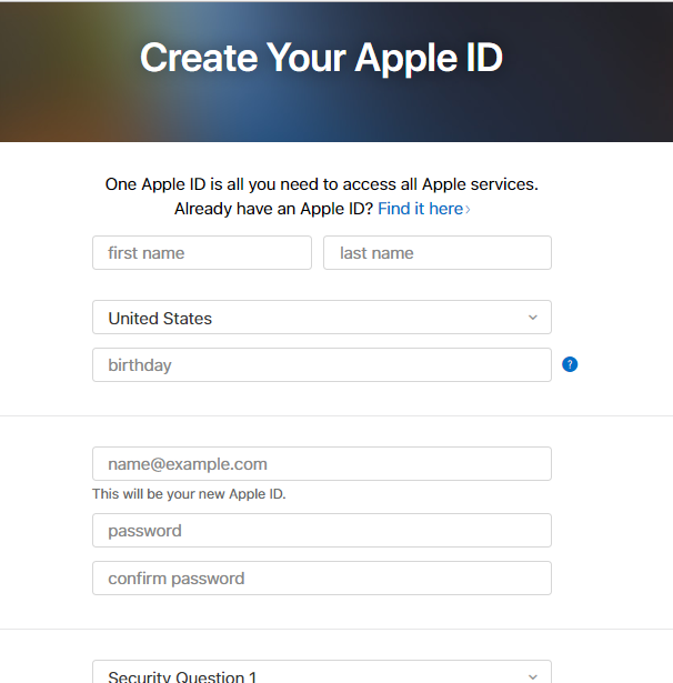 crea tu ID de apple