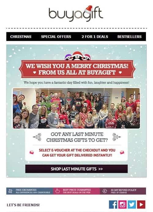 tipos de campaña para navidad