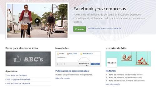 facebook para empresa