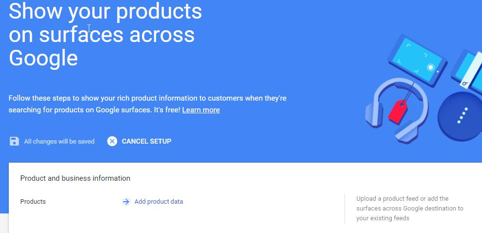 añadir data de productos